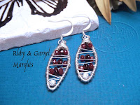 Ruby & Garnet Marquis Earrings