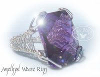 Amethyst Sterling Wire Wrapped Ring