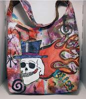 Skull Hobo Bag front