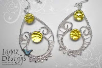 Lemon Quartz 2 earrings by Lagaz Designs