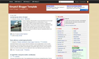 Caribou Blogger Template