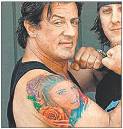 stallone kareena tatoo