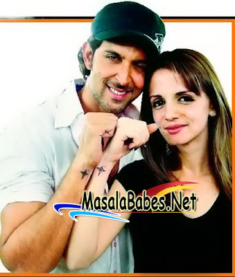 star tattoo hrithik sussanne