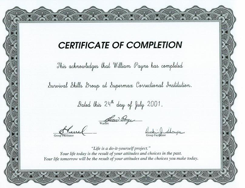 certificates show effort to improve