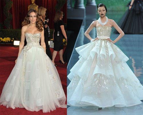 Hollywood star news oscars 2009 part 1 for Sarah jessica parker wedding dress