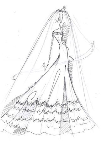 British Wedding Dress Designers on Am Fashion  Designers Sketch Kate Middleton S Wedding Dress