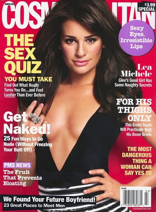 lea michele cosmopolitan article. Lea Michele covers