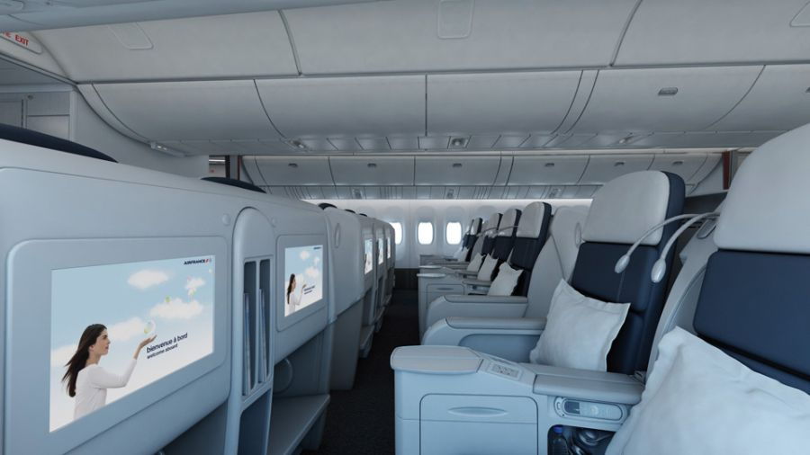 Information technology new air france business class redesign for Interieur avion air france