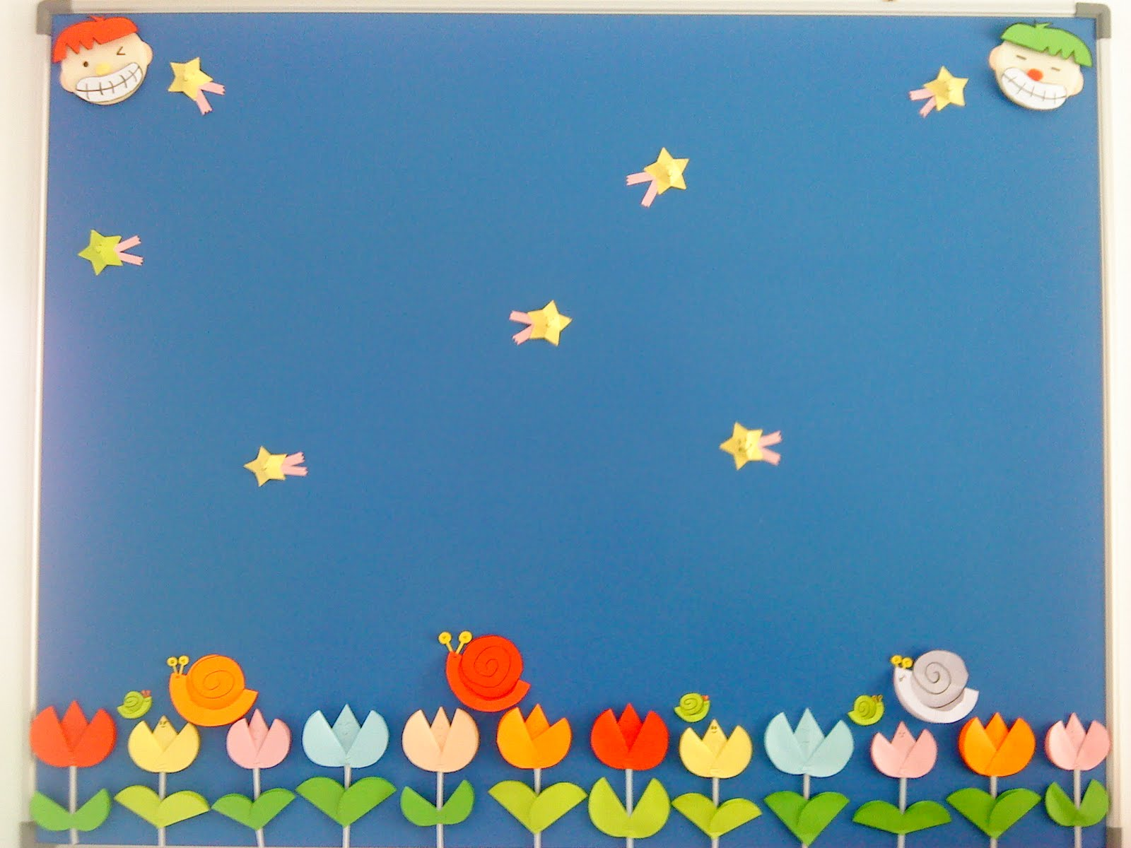 See...These are the decoration for our notice board. Nice? But we ...