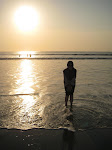 Enjoying the Sunset at Kuta Beach, Bali :))