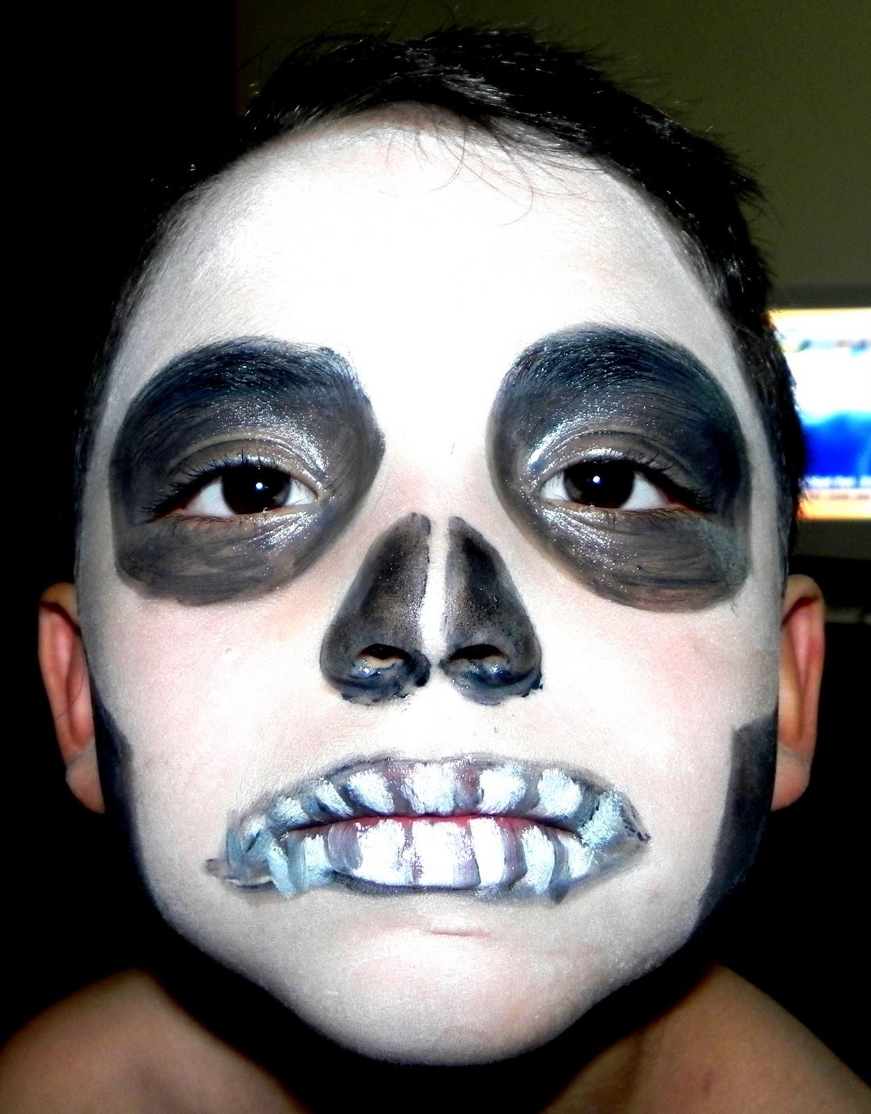 halloween pintar cara imagui On como pintar la cara para halloween