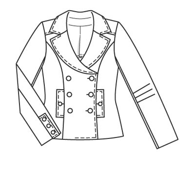 Jacket Coloring Page | Jacket Designs Pictures