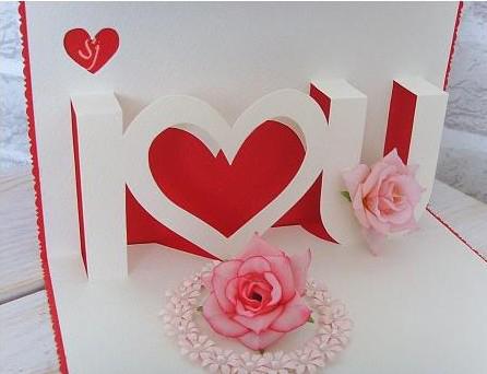 Объемная открытка i love you