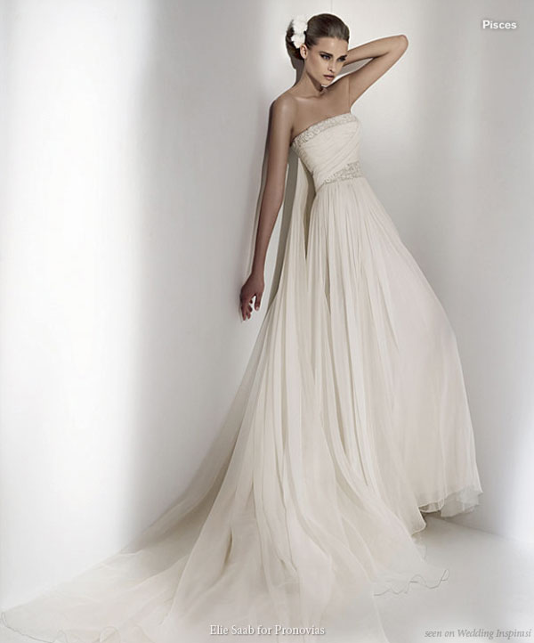 Beautiful grecian wedding dress for Grecian goddess wedding dresses