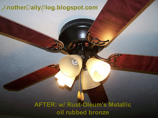 Another daily blog ugly ceiling fancabinet pulls photo revamp the rest is history i took that hideous ceiling fan and made it look beautiful for under 8 bucks thanks rust oleum i cant wait to re do my other uglies thecheapjerseys Images