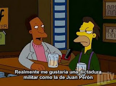 Los Simpson vs Peron