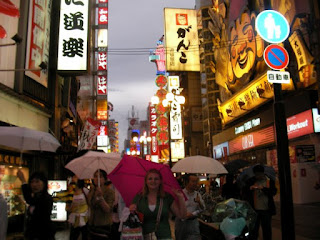 here I am sticking out like a sore thumb 2 years ago in Dotonbori