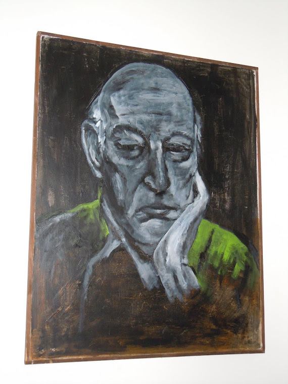 Retrato con rebeca verde