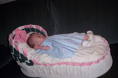 Wicker doll bed made by my mother-in-law