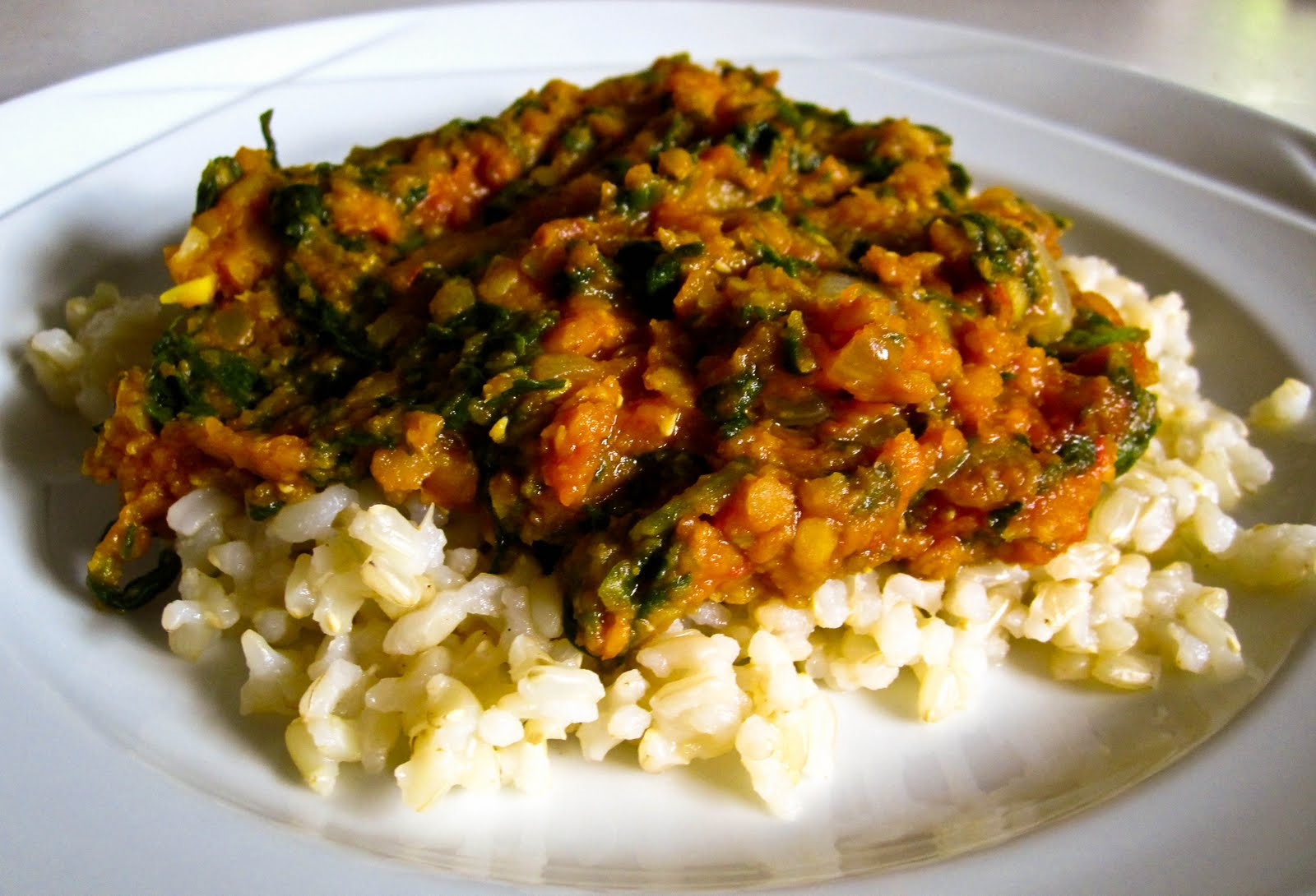 Lentil and Spinach Curry - Food & Whine