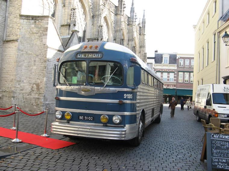 Bus clásico para una boda