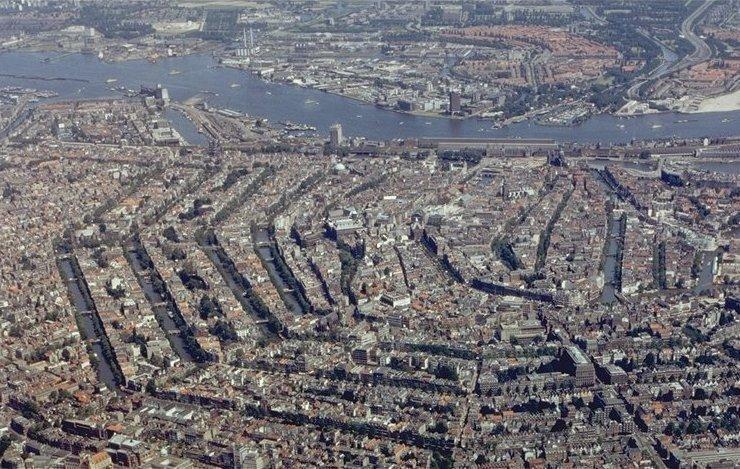 Amsterdam desde el aire