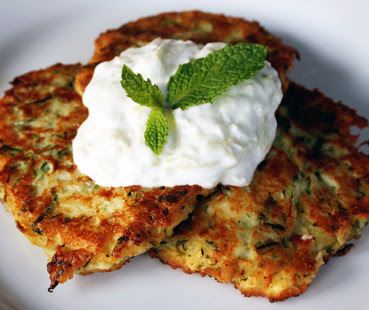 Scrumpdillyicious: Greek Zucchini Fritters with Feta and Dill