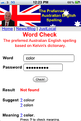 Australian Dictionary: Apple iPhone web app provides the preferred ...