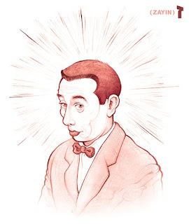 Pee Wee Herman illustration created by illustrator Owen Schumacher on Illustration Pages
