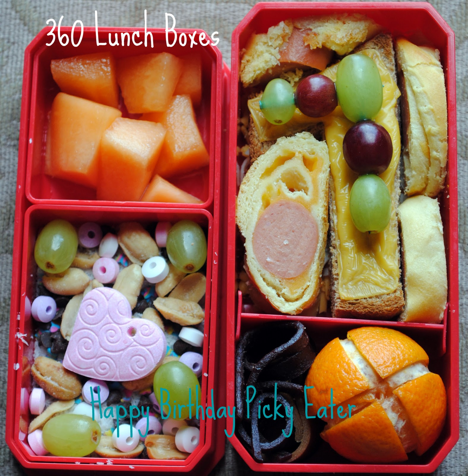 360 lunch boxes bento for the birthday girl. Black Bedroom Furniture Sets. Home Design Ideas