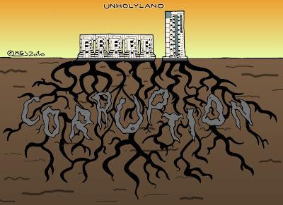 unholyland holyland building complez jerusalem skyscraper deep roots corruption