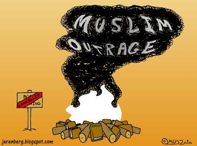 koran burning bonfire florida cancelled smoke muslim outrage