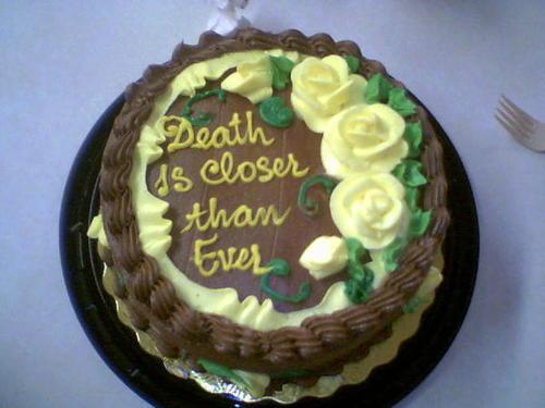 Dark humor cake