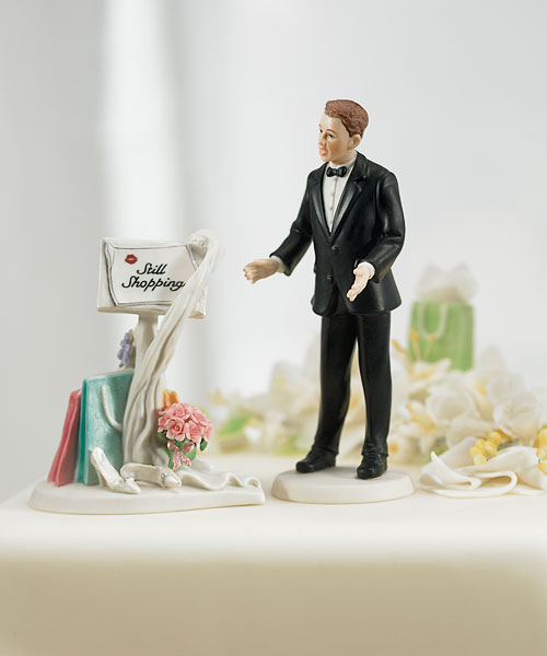that it was possible to scream divorce with a smile from a plastic figurine but here you have it these are the types of wedding toppers that remind
