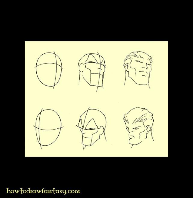 Apprendre-a-dessiner-le-visage-d'un-homme-en-style-bandes-dessinées