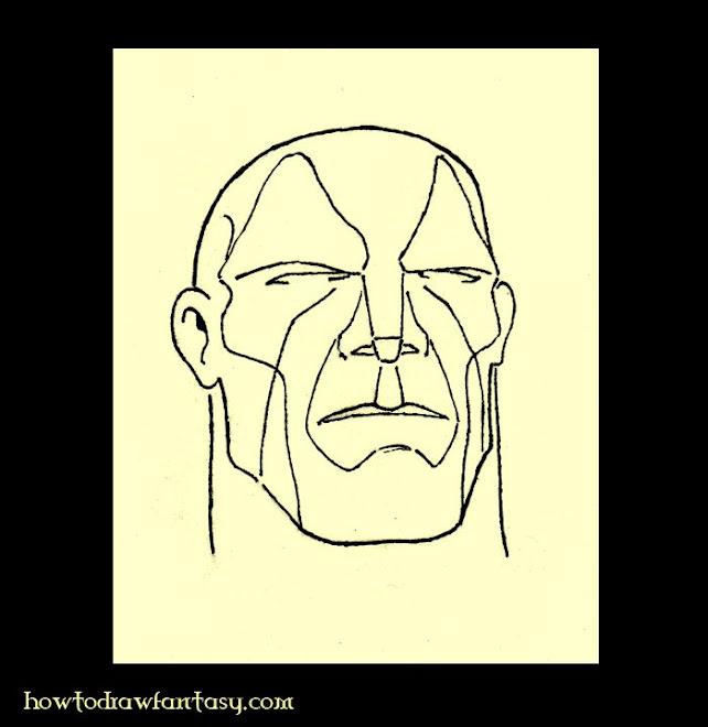 3d de formes pour apprendre comment dessiner un visage