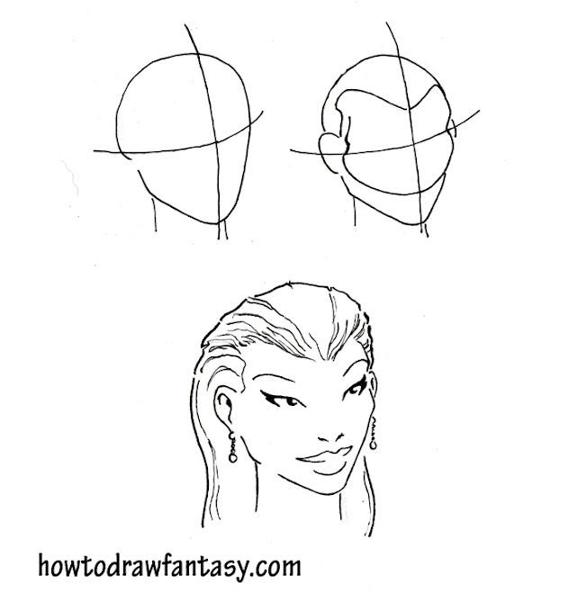 comment dessiner un visage de belle femme