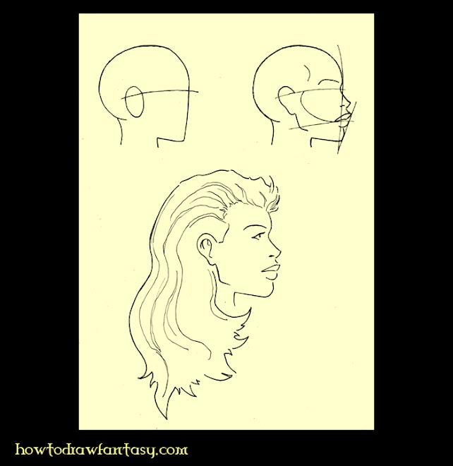 Apprendre a dessiner une jolie femme de profile