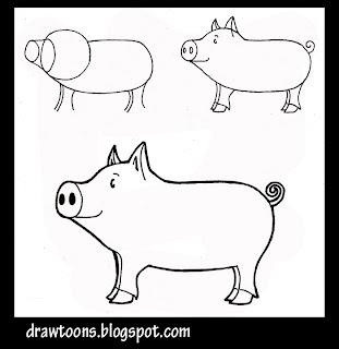 how to draw a cute guinea pig