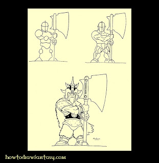 How to draw a dwarf warrior 2