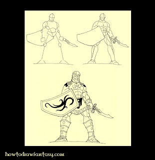 Learn how to draw spartan mythology warriors