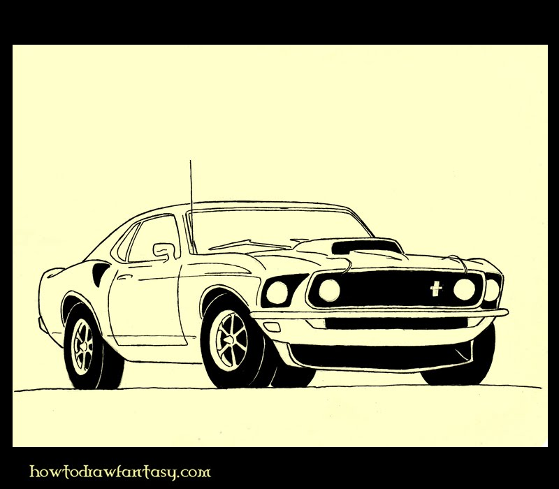 Muscle Cars Mustang Drawings Muscle Car Drawings