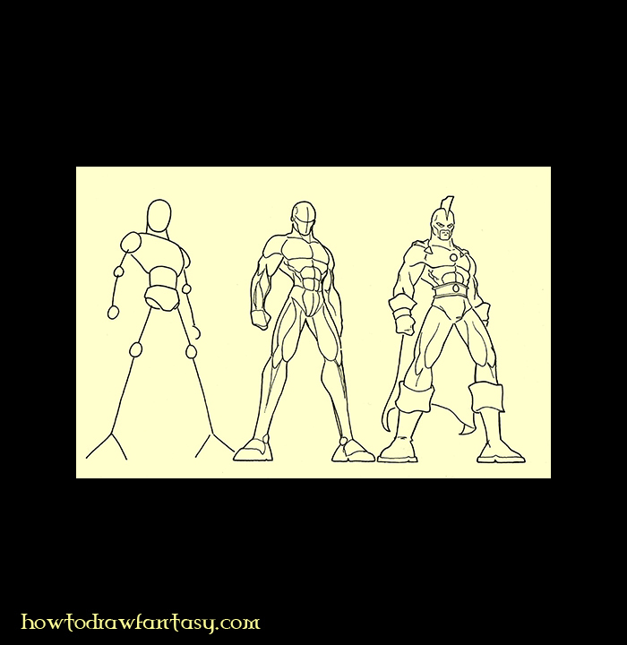 how to draw your own superhero