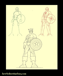 Learn how to draw Captain America step by step