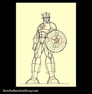 Captain America comicbooks art drawing tutorial