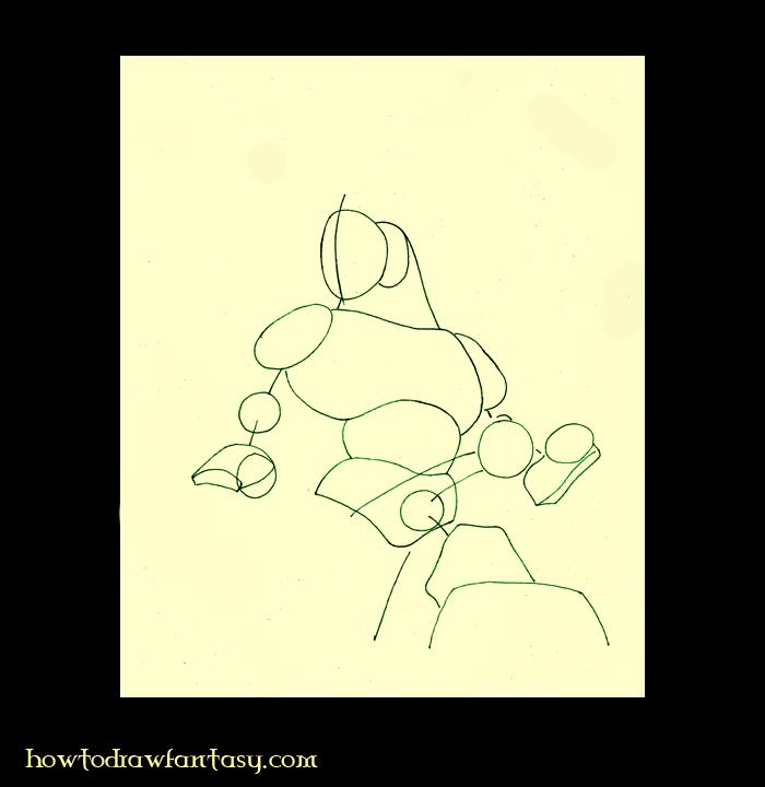 comment dessiner un loup garou