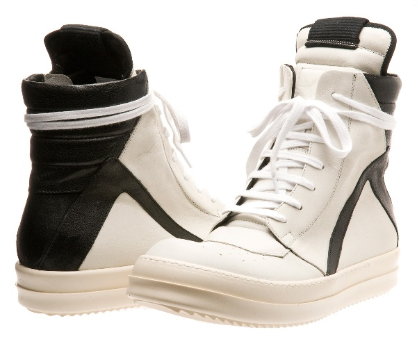 Rick Owens Two-Tone Hi-Top Sneakers_2