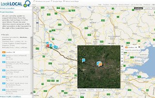 LookLocal Maps Yahoo Map with Driving Directions