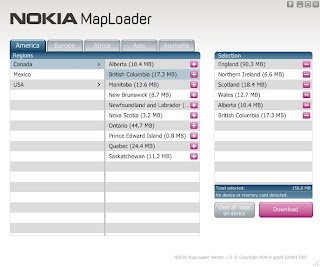 Nokia MapLoader Map Downloader