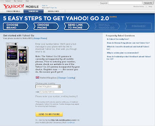 N95 - UK Supported Phones for Yahoo! Go